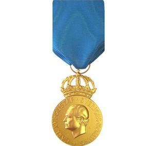 Rootsi teenetemedal, kullast