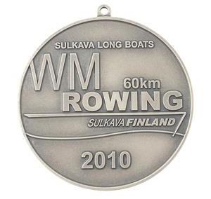 MM medal, hõbetatud