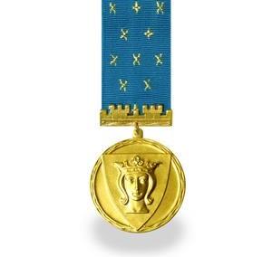 Kullast medal, lindiga
